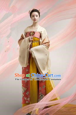 Traditional Ancient Chinese Imperial Emperess Costume, Chinese Tang Dynasty Wedding Dress, Cosplay Chinese Peri Imperial Princess Embroidered Clothing for Women