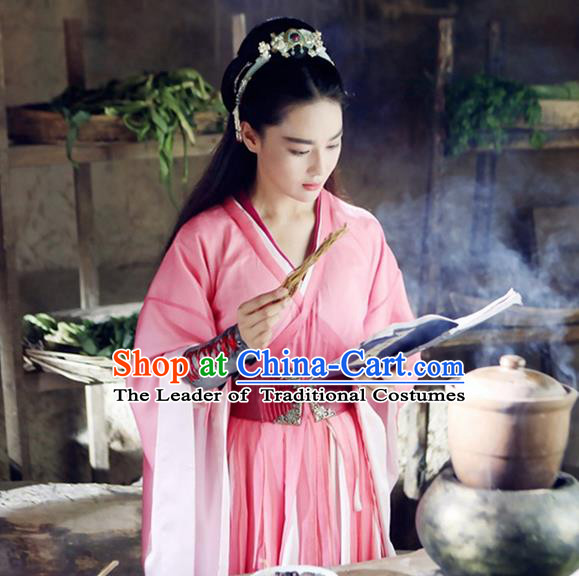 Traditional Ancient Chinese Female Costume, Chinese Tang Dynasty Swordswoman Dress, Cosplay Chinese Swordsman Clothing for Women