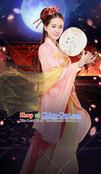 Traditional Ancient Chinese Imperial Emperess Costume, Chinese Han Dynasty Dress, Cosplay Game Characters Chinese Peri Imperial Princess Embroidered Clothing for Women