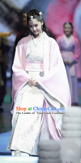 Traditional Ancient Chinese Imperial Princess Costume, Chinese Han Dynasty Young Lady Dress, Cosplay Chinese Peri Princess Clothing for Women