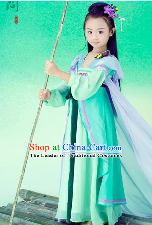 Traditional Ancient Chinese Imperial Princess Costume, Chinese Han Dynasty Children Dress Ruqun, Cosplay Chinese Peri Clothing for Kids