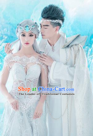 Traditional Ancient Chinese Imperial Costume Complete Set, Chinese Tang Dynasty Couple Dress, Cosplay Fairy Tale Chinese Peri Imperial Princess Clothing for Women for Men
