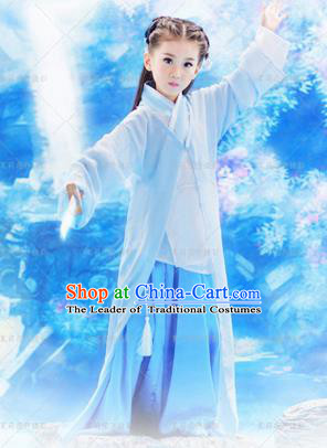 Traditional Ancient Chinese Imperial Princess Costume, Chinese Han Dynasty Children Dress, Cosplay Chinese Imperial Princess Clothing Hanfu for Kids