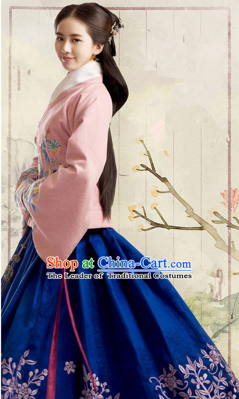 Traditional Ancient Chinese Imperial Emperess Costume, Chinese Ming Dynasty Young Lady Dress, Cosplay Chinese Princess Clothing Hanfu for Women