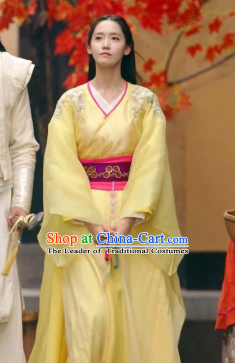 Traditional Ancient Chinese Imperial Emperess Costume, Chinese Han Dynasty Young Lady Dress, Cosplay Chinese Peri Princess Embroidered Hanfu Clothing for Women