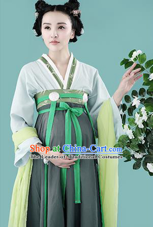 Traditional Ancient Chinese Dunhuang Flying Fairy Costume, Chinese Han Dynasty Dance Ribbon Dress, Cosplay Chinese Peri Imperial Empress Clothing for Pregnant Women