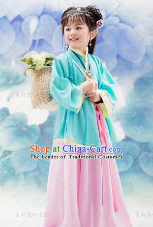 Traditional Ancient Chinese Imperial Princess Costume, Chinese Han Dynasty Children Dress, Cosplay Chinese Princess Clothing Hanfu for Kids