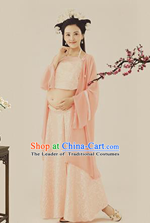 Traditional Ancient Chinese Costume, Chinese Han Dynasty Dance Ribbon Dress, Cosplay Chinese Peri Imperial Empress Clothing for Pregnant Women