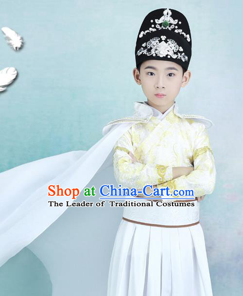 Traditional Chinese Ancient Costumes Ancient Chinese Cosplay Swordsman Knight Costume Complete Set for Kids