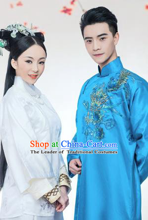Traditional Ancient Chinese Lovers Costume, Chinese Republic of China Lovers Dress, Hanfu Clothing for Women for Men