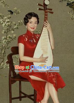 Traditional Chinese Female Costumes Chinese Ancient Clothes Chinese Cheongsam Tang Suits Dress for Women