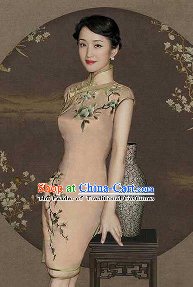 Traditional Chinese Female Costumes Chinese Ancient Clothes Chinese Silk Cheongsam Tang Suits Dress for Women