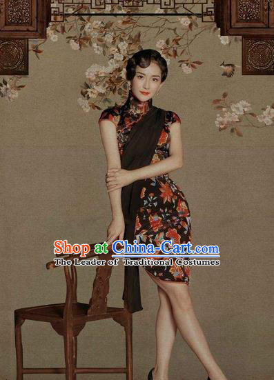 Traditional Chinese Female Costumes Chinese Classic Clothes Chinese Silk Cheongsam Tang Suits Dress for Women