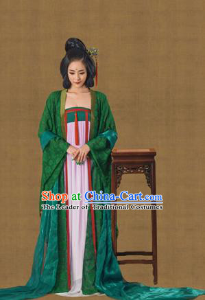 Traditional Ancient Chinese Imperial Consort Costume, Chinese Tang Dynasty Emperess Dress, Cosplay Chinese Peri Palace Lady Clothing for Women