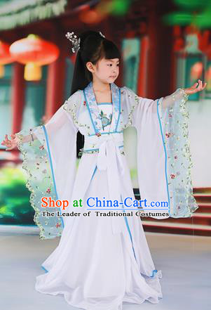 Traditional Ancient Chinese Imperial Consort Children Costume, Chinese Tang Dynasty Little Girl Dress, Cosplay Chinese Princess Clothing Hanfu for Kids