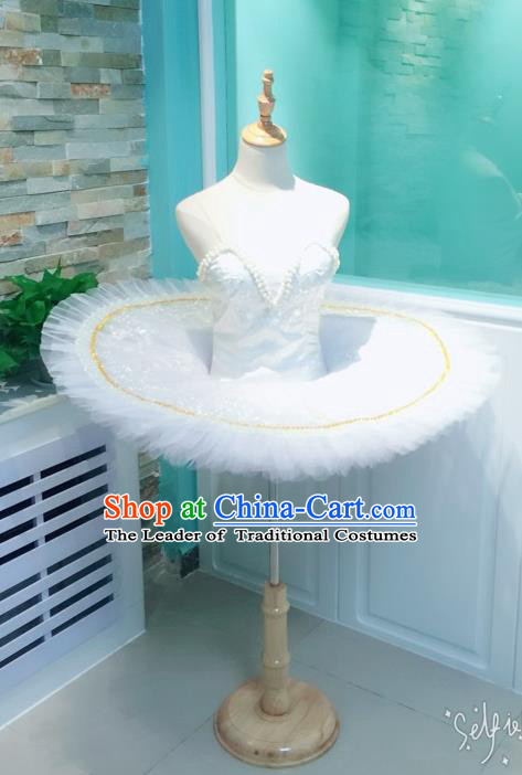Traditional Modern Dancing Compere Costume, Women Opening Classic Chorus Singing Group Dance Dress, Modern Dance Classic Ballet Dance Veil Dress for Women