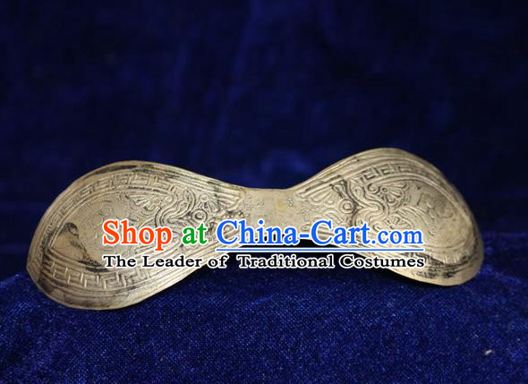 Traditional Chinese Miao Nationality Crafts Jewelry Accessory Hair Accessories, Hmong Handmade Miao Silver Palace Hair Sticks Hair Claw, Miao Ethnic Minority Hair Fascinators Hairpins for Women