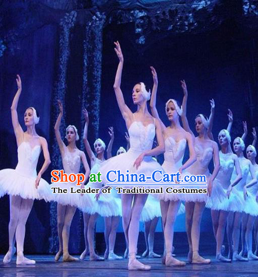 Traditional Modern Dancing Compere Costume, Opening Classic Chorus Singing Group Dance Bubble Dress Tu Tu Dancewear, Modern Dance Classic Ballet Dance Elegant Dress for Women
