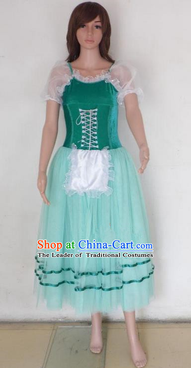 Traditional Modern Dancing Compere Costume, Female Opening Classic Chorus Singing Group Dance Bell Dress Tu Tu Dancewear, Modern Dance Classic Ballet Dance Veil Dress for Women