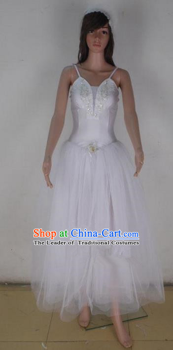 Traditional Modern Dancing Compere Costume, Female Opening Classic Chorus Singing Group Dance Bubble Dress Tu Tu Dancewear, Modern Dance Classic Ballet Dance Elegant Dress for Women