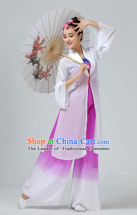 Traditional Chinese Yangge Fan Dancing Costume, Folk Dance Yangko Mandarin Collar Uniforms, Classic Umbrella Dance Elegant Dress Drum Dance Clothing for Women