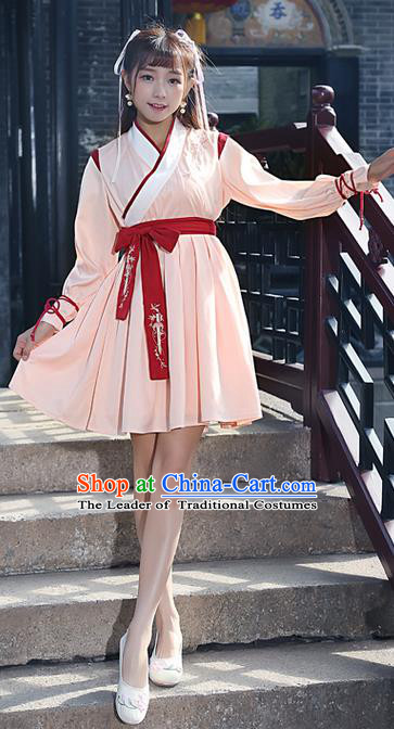 Traditional Ancient Chinese Ancient Costume, Elegant Hanfu Clothing Embroidered Dress, China Ming Dynasty Elegant Dress Complete Set for Women