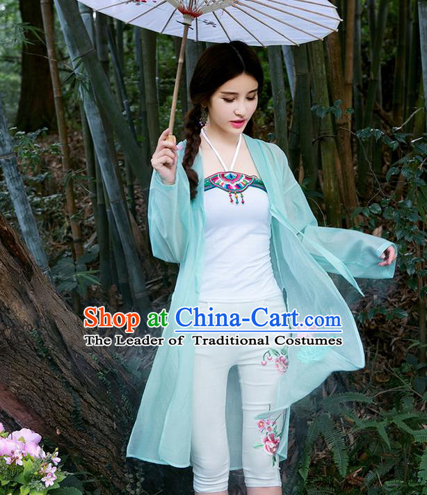 Traditional Chinese Ancient Costume, Elegant Hanfu Clothing Embroidered Cardigan, China Ming Dynasty Elegant Blouse Coat for Women