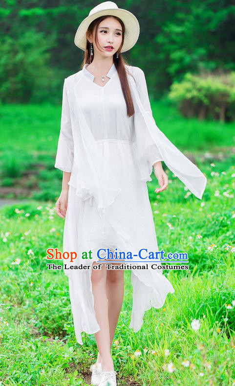 Traditional Ancient Chinese Costume, Elegant Hanfu Clothing Cardigan and Dress, China Tang Suit Long Dress for Women