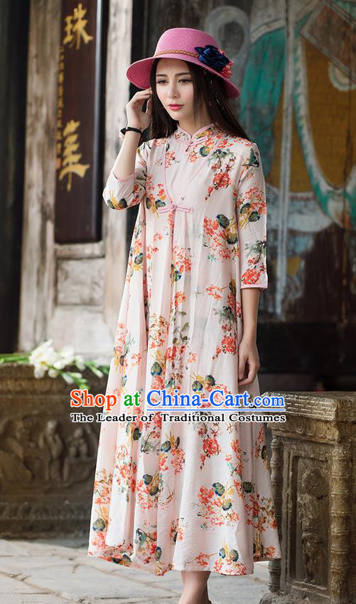 Traditional Ancient Chinese National Costume, Elegant Hanfu Pink Cardigan, China Tang Suit Cape, Upper Outer Garment Dust Coat Cloak Clothing for Women