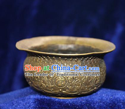 Traditional Chinese Miao Nationality Crafts Decoration Accessory Bronze Censer, Hmong Handmade Burner Ornaments, Miao Ethnic Minority Exorcise Evil Incense Burner