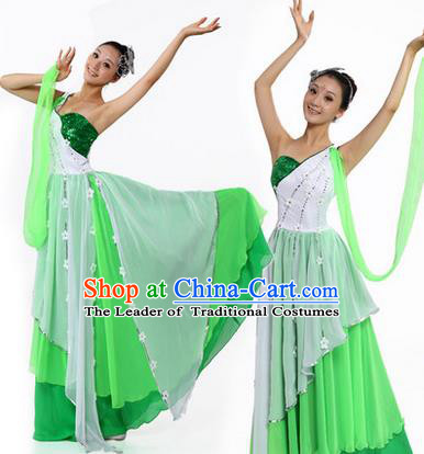 Traditional Chinese Yangge Fan Dancing Costume, Modern Opening Dance Costume, Classic Dance Folk Lotus Dance Yangko Costume Drum Dance Clothing for Women