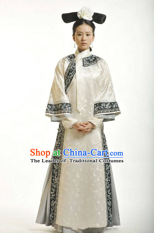 Traditional Ancient Chinese Imperial Princess Costume, Chinese Qing Dynasty Manchu Palace Lady Dress, Chinese Mandarin Robes Imperial Princess Embroidered Clothing for Women