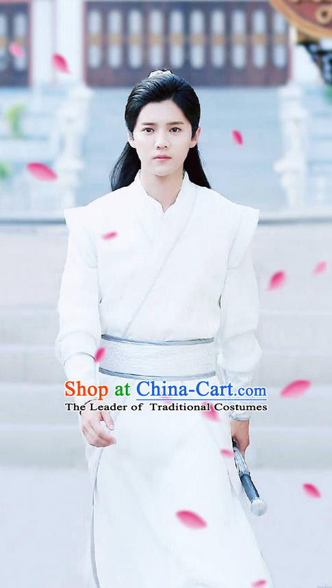 Traditional Ancient Chinese Nobility Childe Costume, Elegant Hanfu Male Lordling Scholar Dress, Cosplay China  Swordsman Clothing for Men