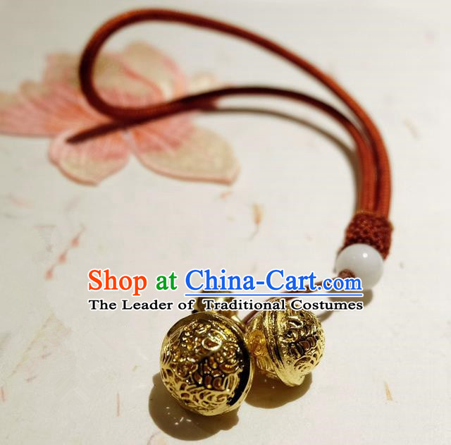 Traditional Chinese Ancient Crafts, China Handmade Anklets Jewelry Accessories Bells Ankle Chain for Women