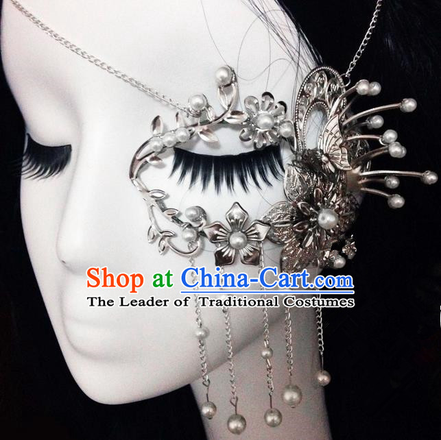Traditional Handmade Chinese Ancient Classical Accessories, Chinese Mask Beads Tassel Jewellery Hanfu Accessories for Women