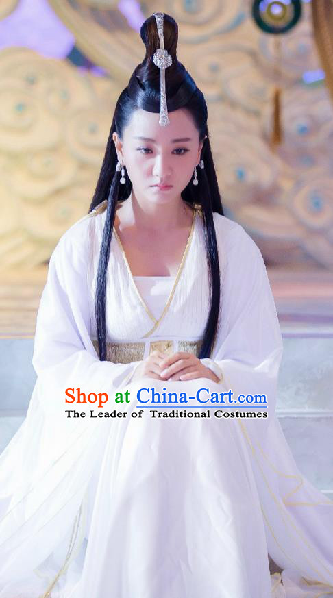 Traditional Ancient Chinese Chivalrous Swordswoman Costume, Chinese Ming Dynasty Aristocratic Miss Young Lady Dress, Cosplay Chinese Television Drama Flying Daggers Princess Hanfu Clothing for Women