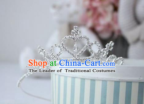 Top Grade Handmade Classical Hair Accessories, Children Baroque Style Wedding Royal Crown Hair Jewellery Hair Clasp for Kids Girls