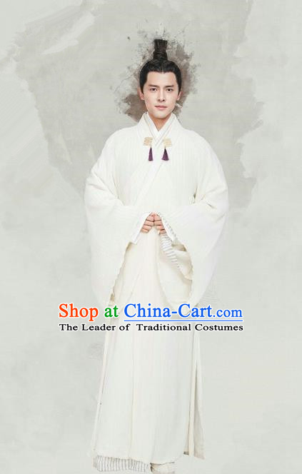 Traditional Chinese Ancient Imperial Prince Costume, China Tang Dynasty Nobility Childe Clothing and Handmade Headpiece Complete Set for Men