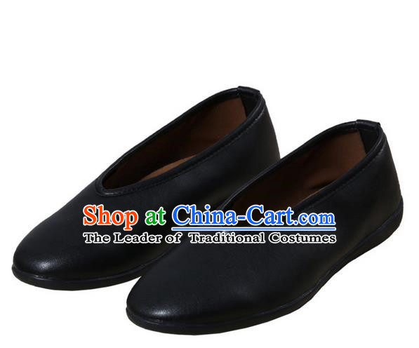 Top Chinese Traditional Tai Chi Black Shoes Kung Fu Pulian Shoes Martial Arts Shoes for Men