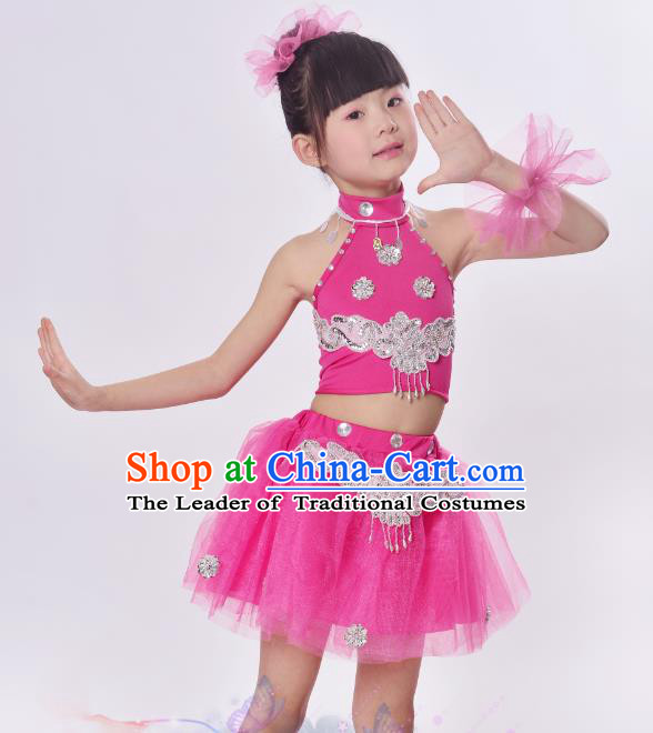 Top Grade Professional Performance Catwalks Costume, Children Chorus Full Dress Modern Dance Little Princess Bubble Dress for Girls Kids