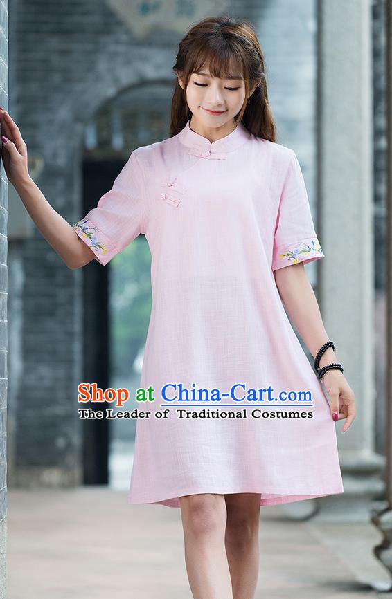 Chinese Pink Hanfu Garment for Women