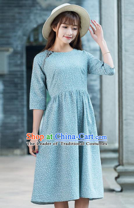 Traditional Ancient Chinese National Costume, Elegant Hanfu Mandarin Qipao Slant Opening Dress, China Tang Suit Chirpaur Upper Outer Garment Elegant Dress Clothing for Women