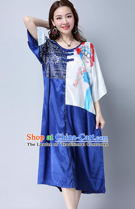 Traditional Ancient Chinese National Costume, Elegant Hanfu Silk Dress, China Tang Suit Chirpaur Cheongsam Elegant Dress Clothing for Women