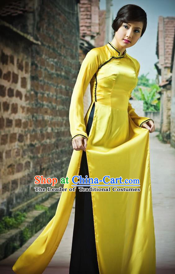 Top Grade Asian Vietnamese Traditional Dress, Vietnam Bride Ao Dai Dress, Vietnam Princess Dress Cheongsam Clothing for Women