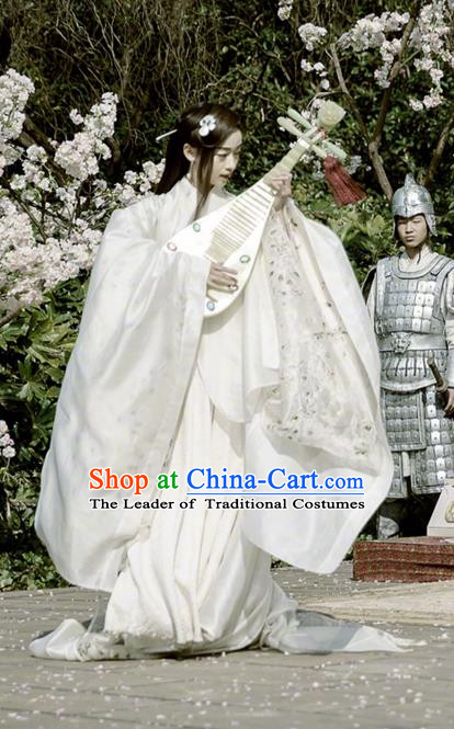 Traditional Chinese Ancient Shang Dynasty Palace Princess Costume, China Mythology Television Zhao Ge Ancient Female Entertainer Dance Clothing and Headwear Complete Set