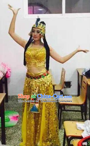 Top Grade Egypt Classic Stage Performance Dance Costumes, Egypt Belly Dance Dress for Women