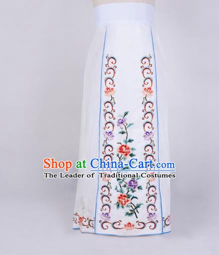 Traditional Chinese Beijing Opera Servant Girl Dress, China Peking Opera Young Lady Costume Embroidered Opera Skirt Costumes