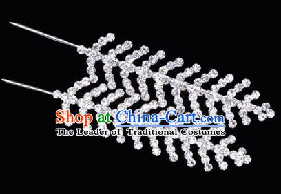 Chinese Ancient Peking Opera Hair Accessories, Traditional Chinese Beijing Opera Props Head Ornaments Hua Tan Fishbone Headwear
