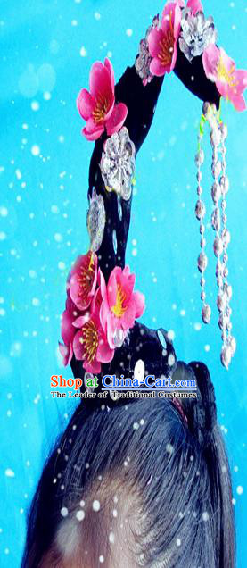 Traditional Chinese Peking Opera Hair Accessories, China Ancient Young Lady Flying Dance Handmade Wigs for Women