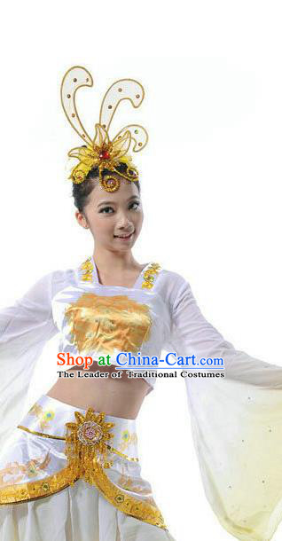 Traditional Chinese Classical Dance Hair Accessories, China Female Opening Dance Folk Dance Forehead Ornament Headwear for Women